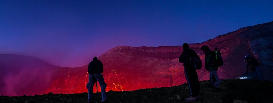 Ascension Sommet Etna Nuit