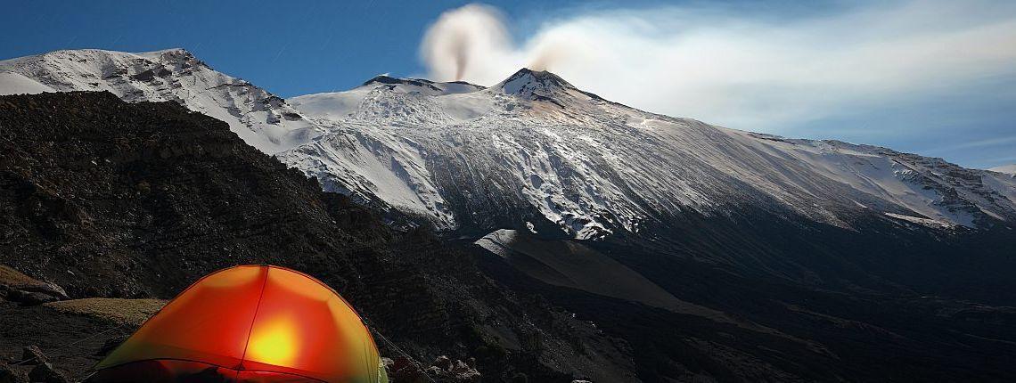 Nuit sur le volcan Etna