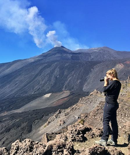 Hiking Etna Trail: lava tunnel, Valle del Bove, view Summit Craters