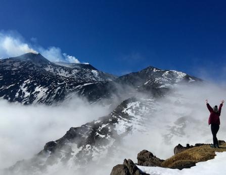 Coronavirus Etna téléphérique cratère Silvestri Refuge Sapienza déserts